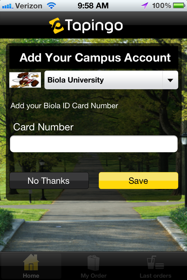 Bon Appétit is testing a smart phone app that will allow students to pre-order their meals at Biola's on-campus eateries.   Screenshot