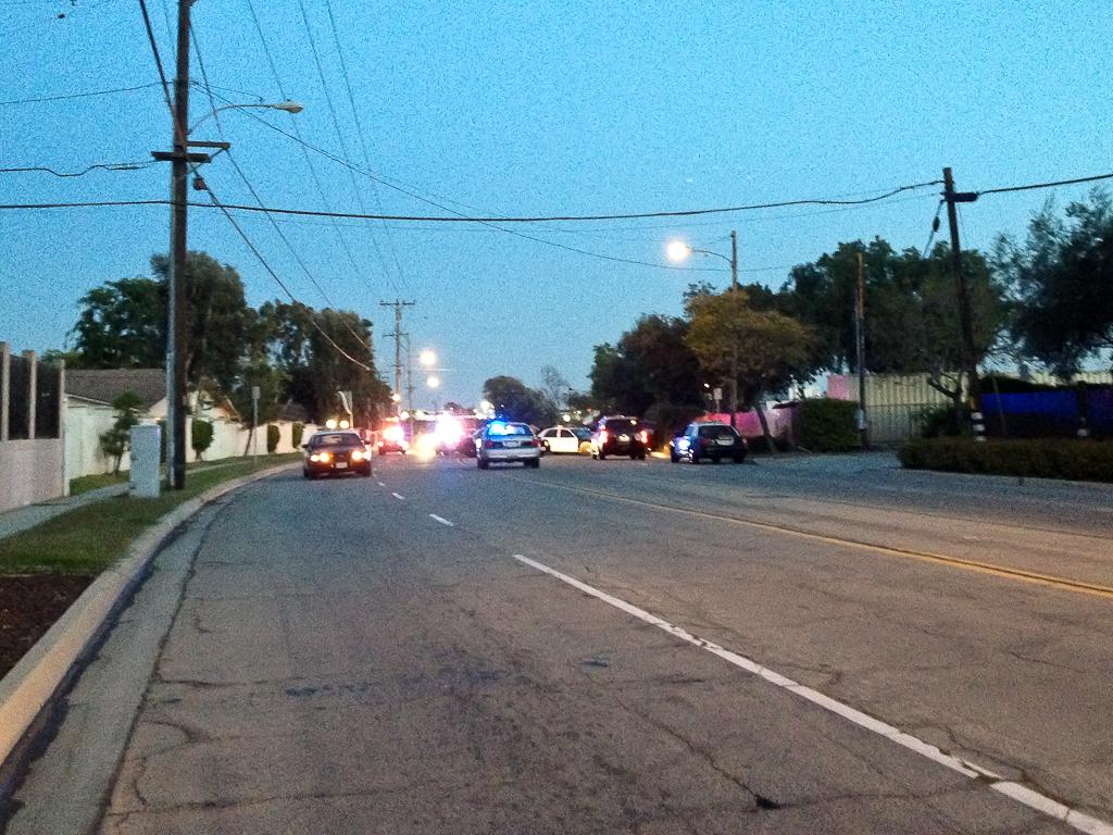 Car chase ends in crash near Biola