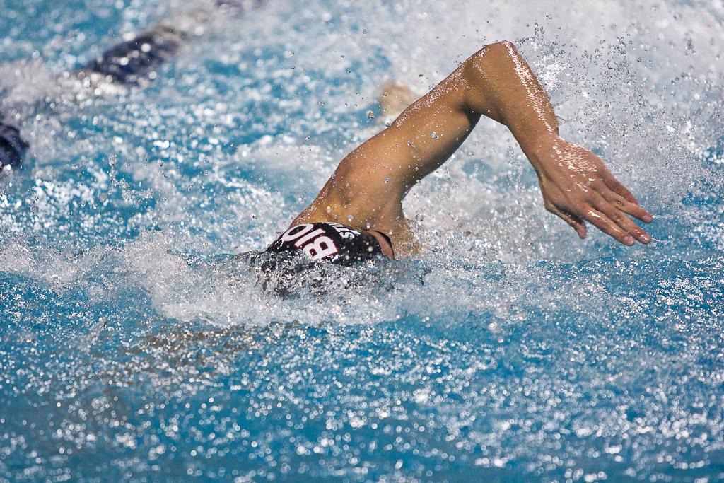 Christine Tixier breaks NAIA swimming record