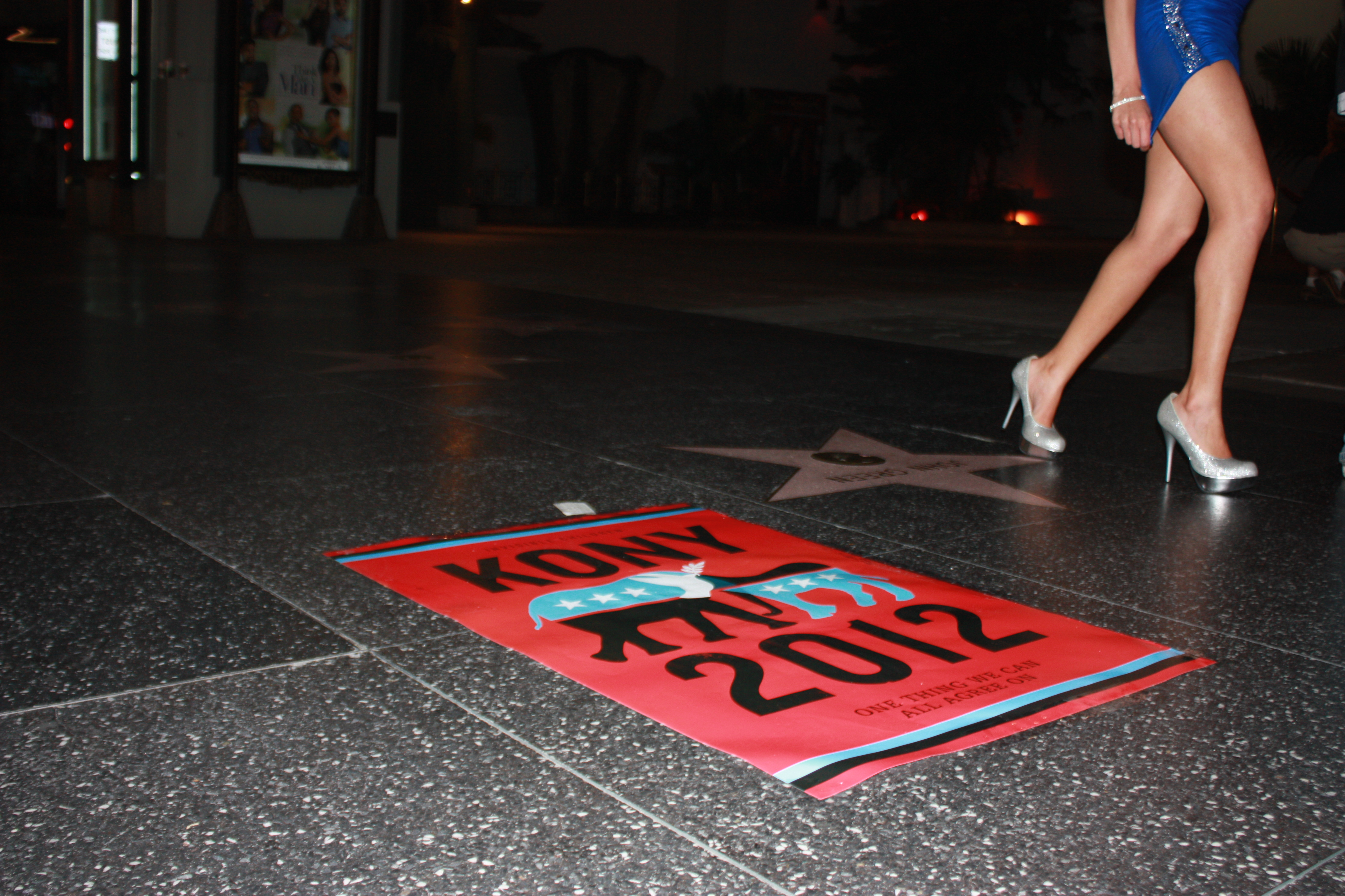 Students ventured to Los Angeles to document the placement of Joseph Kony posters. To the dismay of campaign supporters, there were not as many posters as expected. | Sarah Seman/THE CHIMES