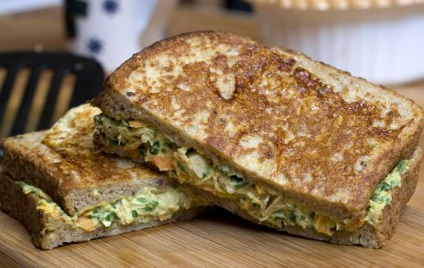 A French Toasted Tuna and Hummus Sandwich: this Mediterranean inspired sandwich is hearty enough to be a supper sandwich but still healthy thanks to substituting hummus for the mayonnaise and packing it with fresh vegetables. (AP Photo)