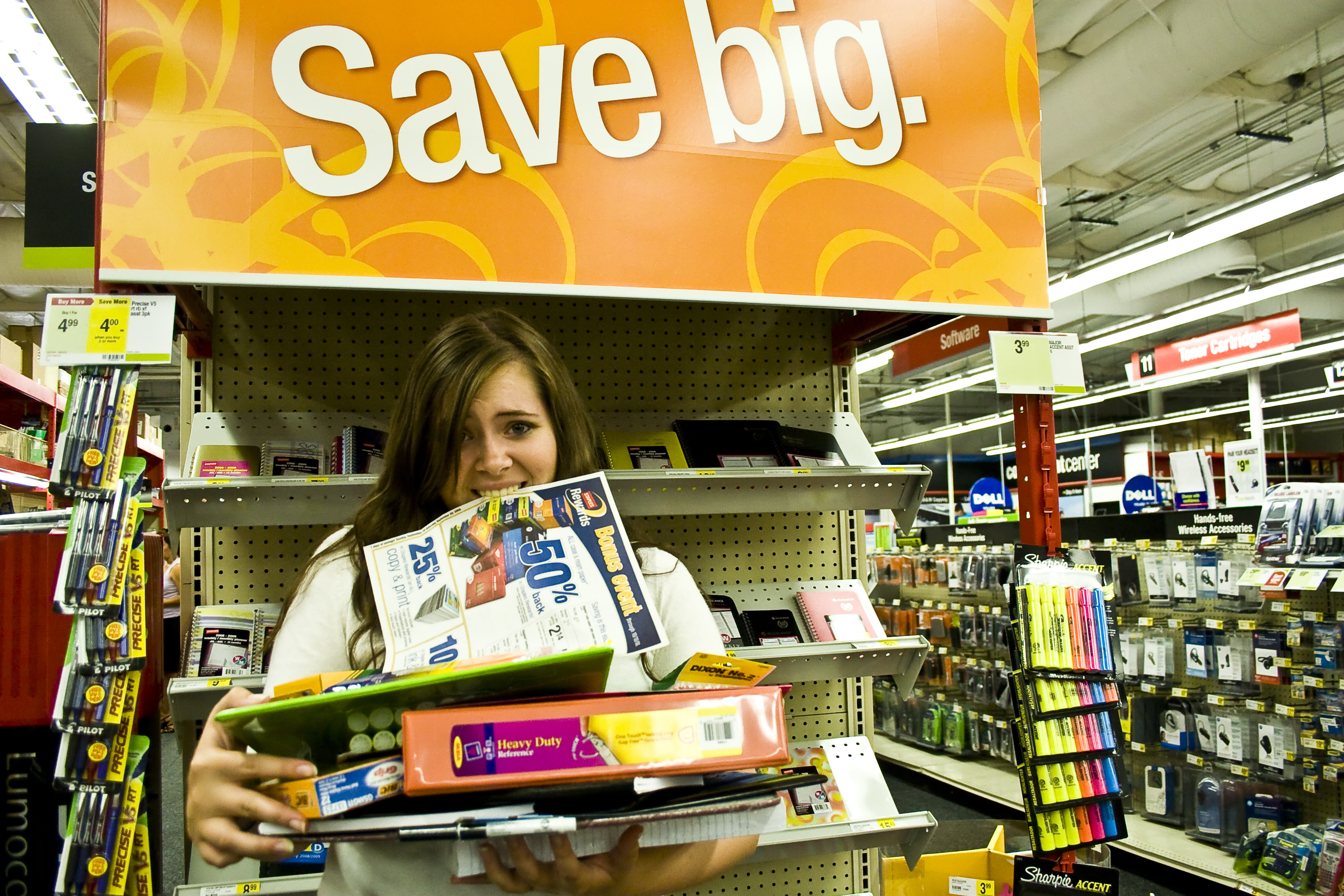 Here are some easy tips to help begin your school year by overloading yourself with great deals on school supplies at Staples.  Photo by Christina Schantz