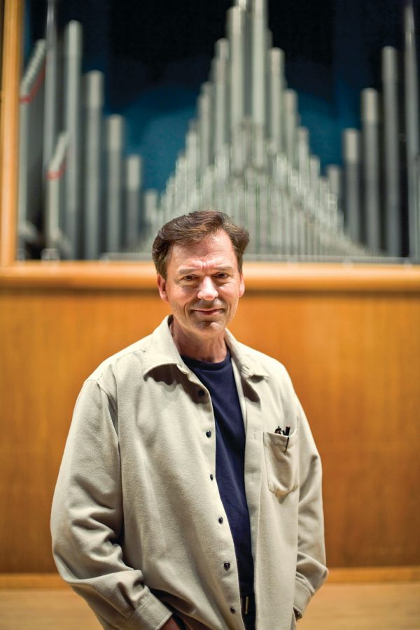 """Amick Byram, guest director, held auditions for the Biola Conservatory's production of """"Into the Woods."""" Byram is a two-time, Grammy-nominated vocalist, and has sung in several films including """"Shrek"""" and """"The Lion King."""""""
