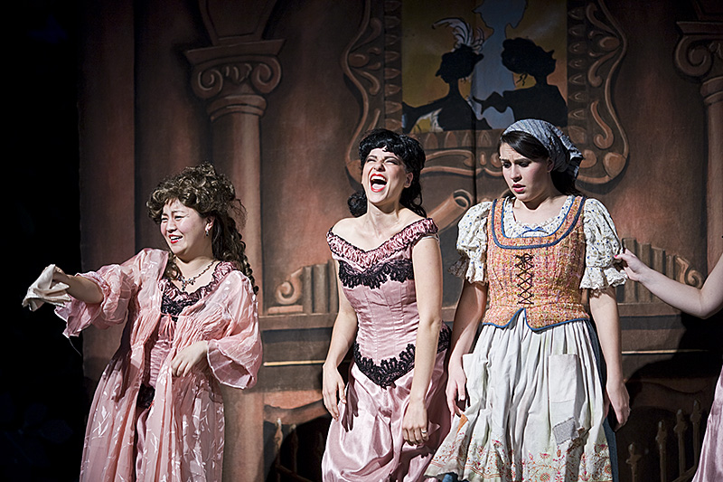 Cinderella%27s+step+sisters+and+mother+taunt+her+about+not+attending+the+festival.+%7CKelsey+Heng%2FTHE+CHIMES