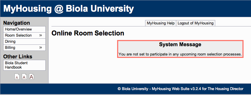 My Housing is the new website for registering for on-campus housing at Biola. Biolans encountered a system glitch allowing students to register before their allotted time, causing a temporary process suspension Monday night.