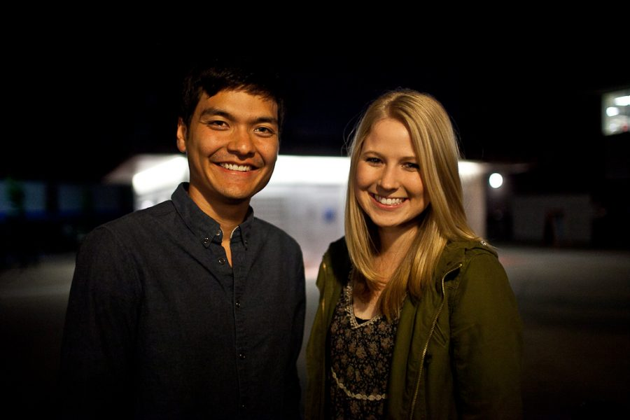 Chris Yim and Laura Cook were elected AS president and vice president duo for the 2012/13 school year. They are both shocked and ready to begin their term as Biola leaders. | Ashley Jones/THE CHIMES