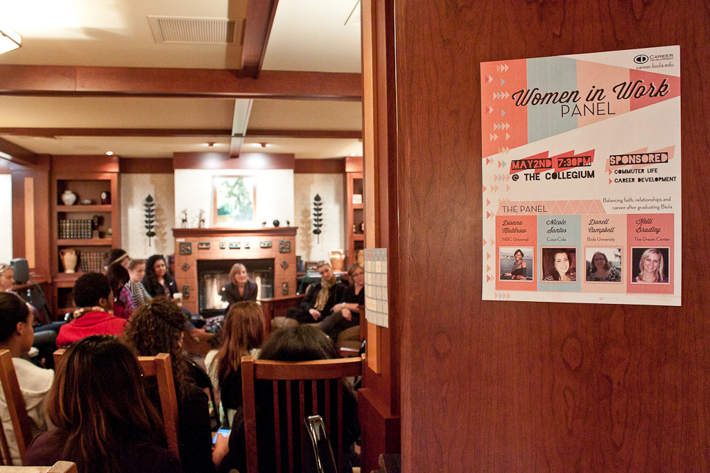 Biola affiliated women held a panel called