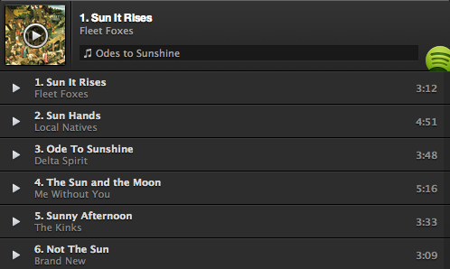 Mix Tape Monday: Odes to Sunshine