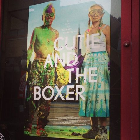 "A full house at the Egyptian Theatre had the privilege of seeing ""Cutie and the Boxer"" for the final time at #sundance The doc is a heartfelt depiction of an artistic couple who experience the ups and downs of the art world together. 