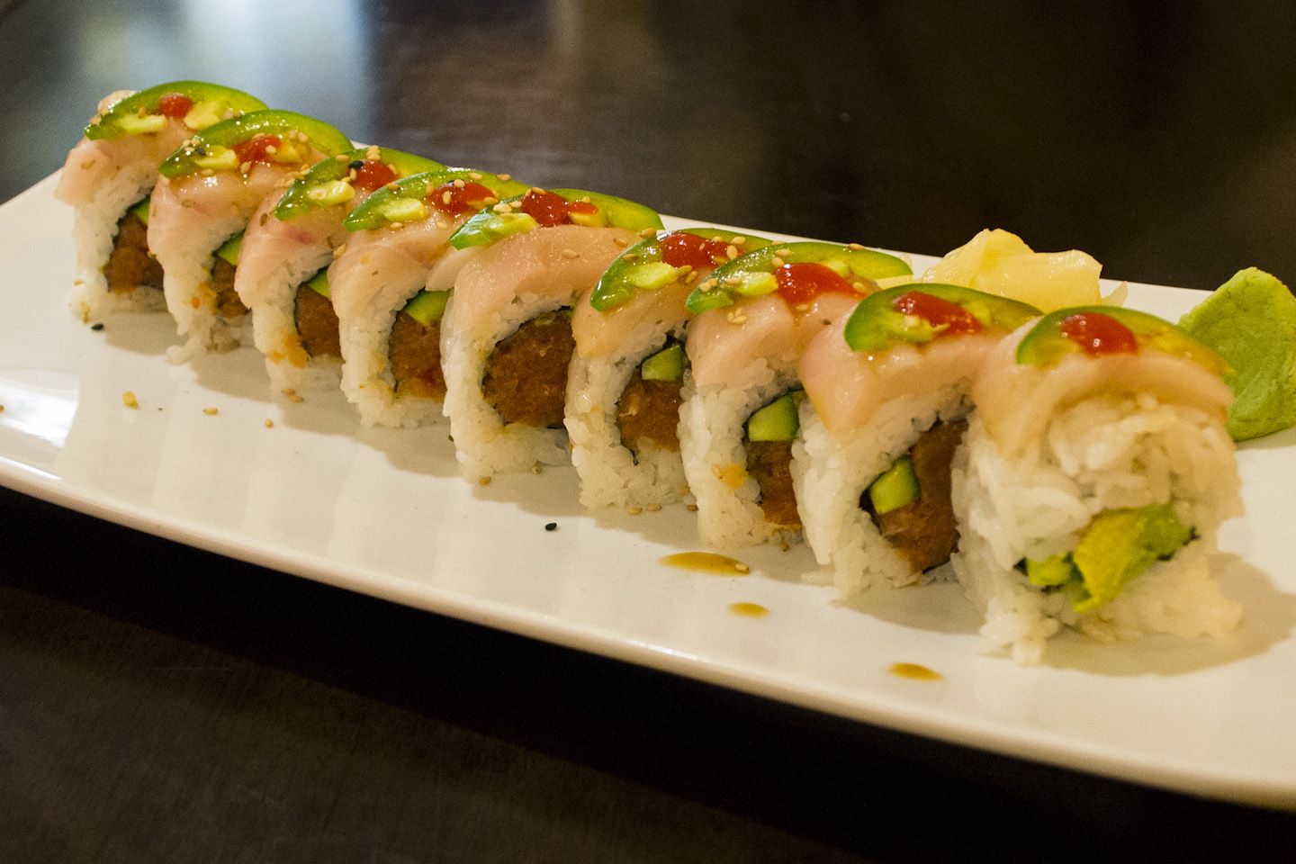 Orange Roll sushi pleases taste buds and wallet