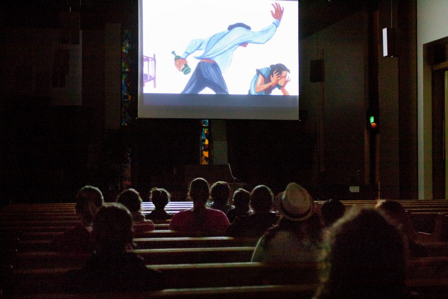 On Tuesday night, students viewed screening of