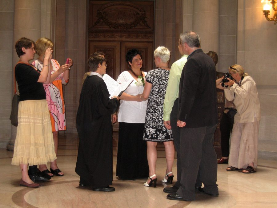 Fourteen states have legalized same-sex marriage, with three coming to a decision soon. There is estimated to be over 70,000 legal same-sex marriages currently in the United States, according to a June 26, 2013 Pew Research Center report. | Courtesy of wikimedia.org
