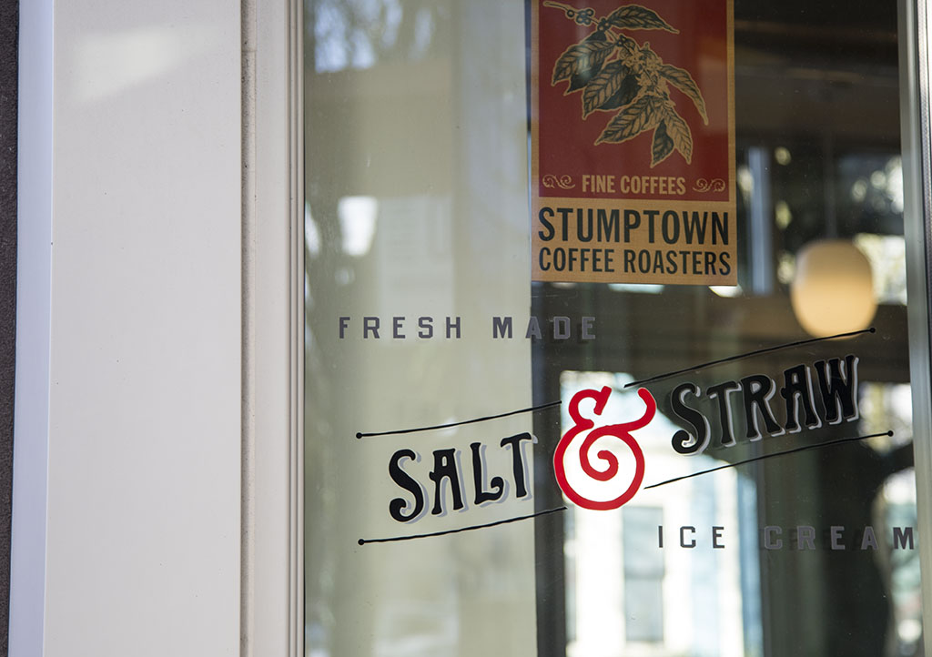 Below, Daryn suggests Salt and Straw Ice Cream as well as Stumptown Coffee as great gifts to give a friend this Christmas. | Courtesy of Daryn Daniels