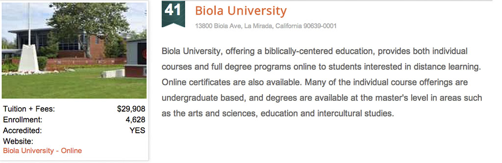 college affordability ranking sheds light on biola's financial aid