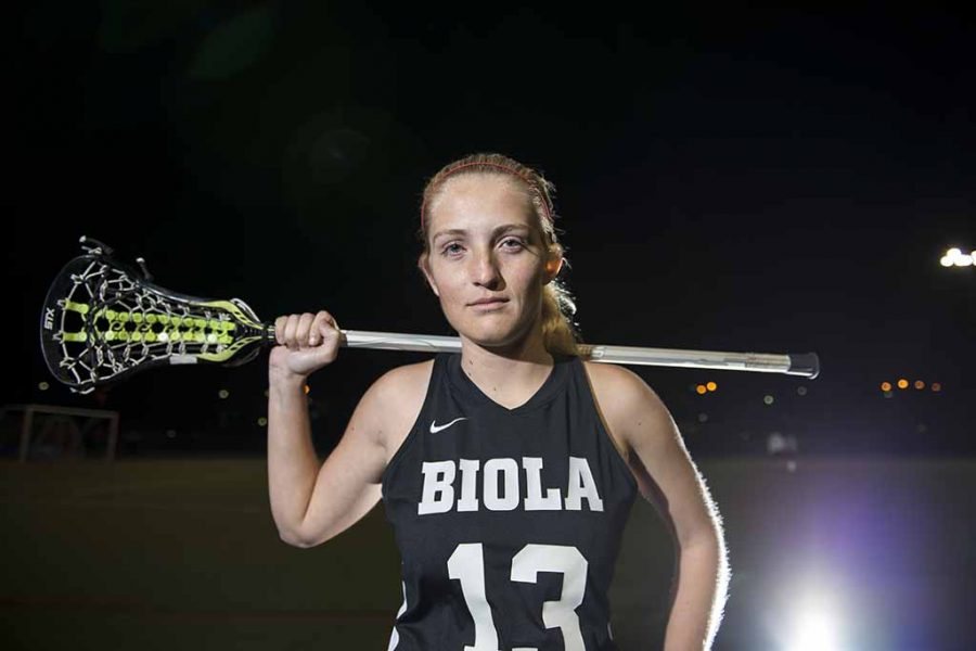 Junior Addie Wadley, a midfielder for the ladies lacrosse team, ranks among the top ten in national lacrosse categories. | Olivia Blinn/THE CHIMES