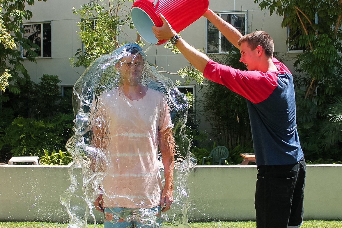 Ice Bucket Challenge Makes Waves on Campus