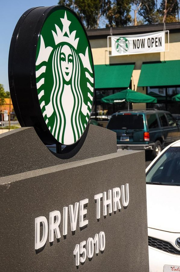 Opened August 28th, the new Starbucks near Biola's campus offers customers a drive-thru and extended hours. | Cherri Yoon/THE CHIMES