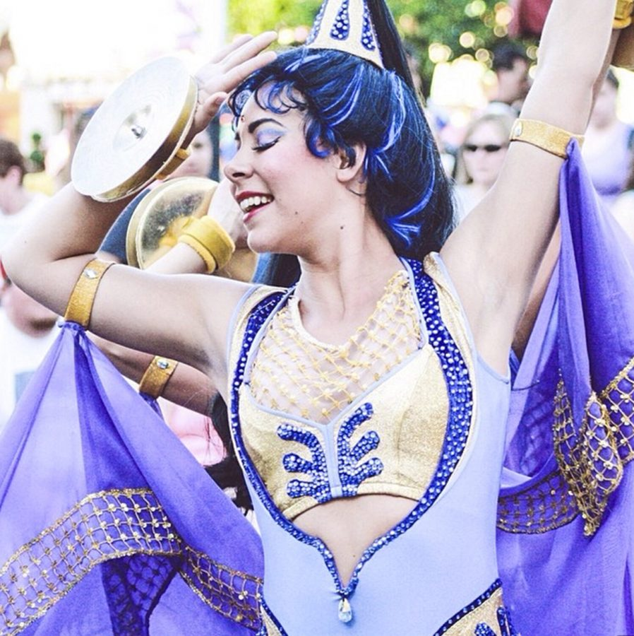 "Sophomore media management major Danae Mitchell performs in multiple parades at both Disneyland and Disney's California Adventure. ""Since I love to dance and perform, it doesn't ever really feel like a job,"" Mitchell said. 