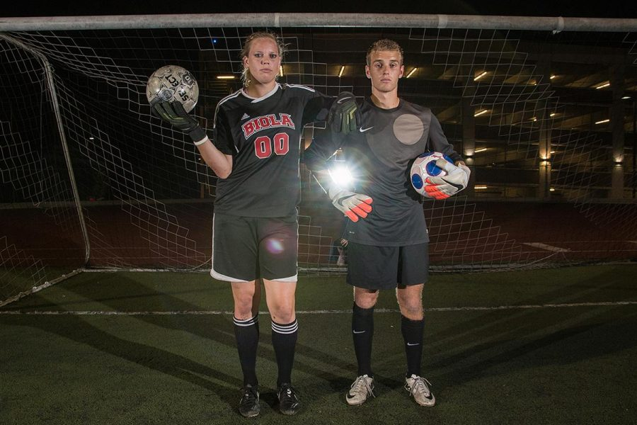 Soccer goalkeepers senior Briana Williams and junior JT Addington share about the steps they each had to take to to become the goalies that they are today. | Aaron Fooks/THE CHIMES