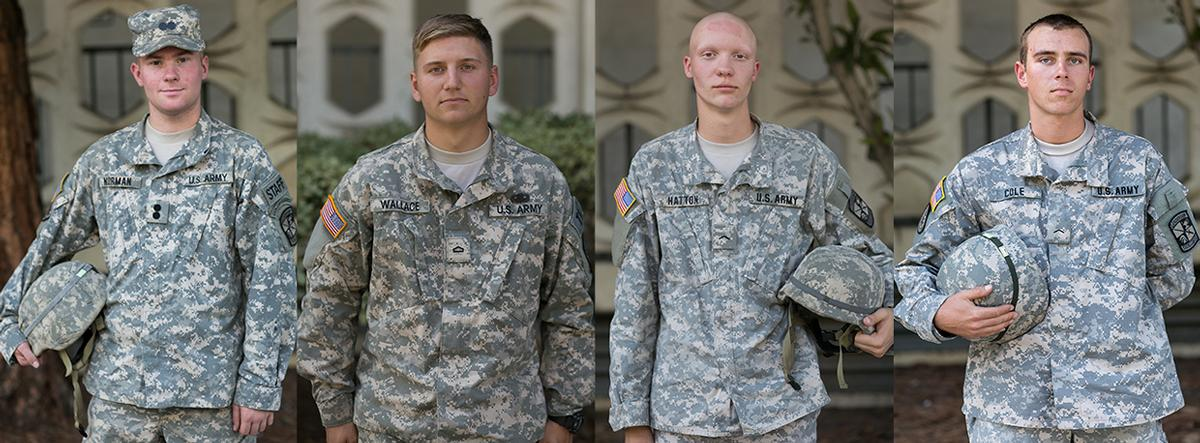 ROTC students in uniform trigger varied reactions