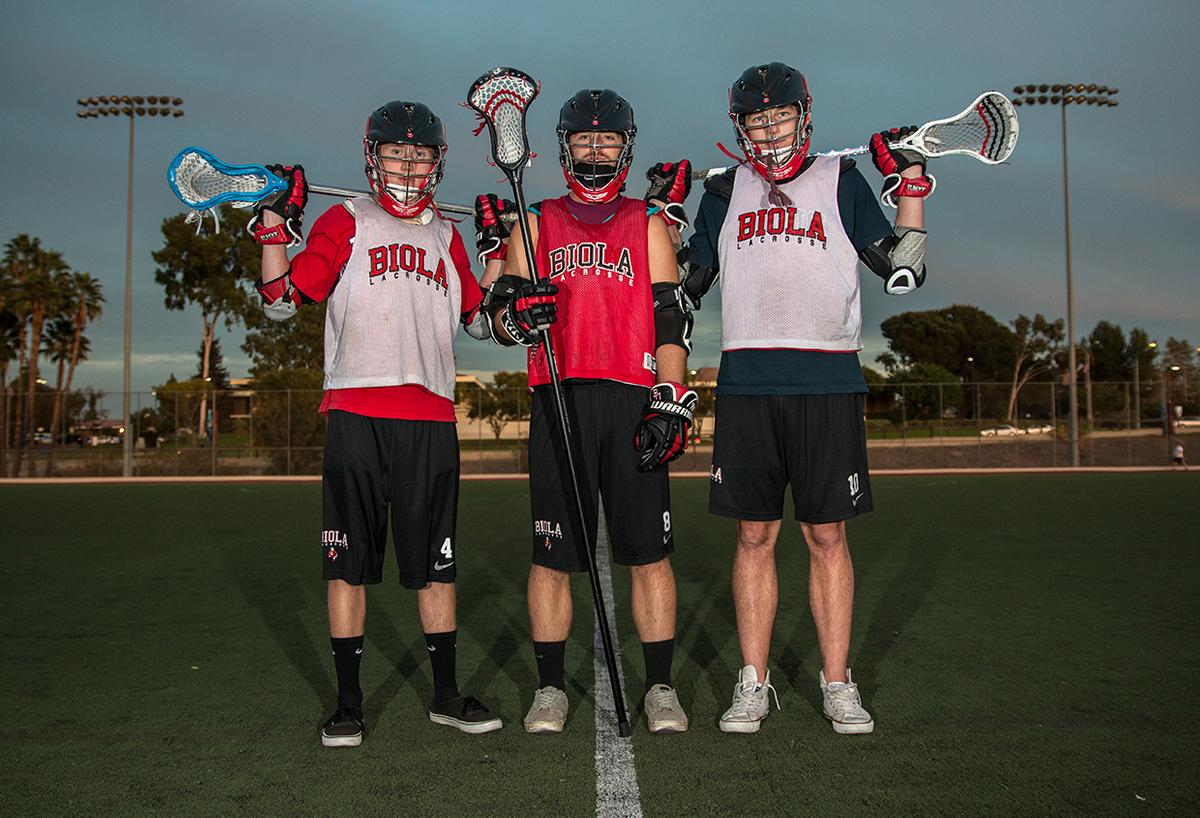 Junior attacker David Shaum, sophomore defender Matt Castro and senior midfielder Josh Nordstrom are the captains for the men's lacrosse 2015 season. See the full gallery below. | Aaron Fooks/THE CHIMES