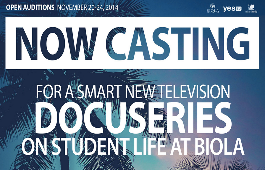 Casting open for Biola TV show