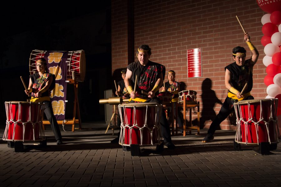 Taiko drum group performs during the last night of SCORR conference. | Marika Adamopoulos/THE CHIMES