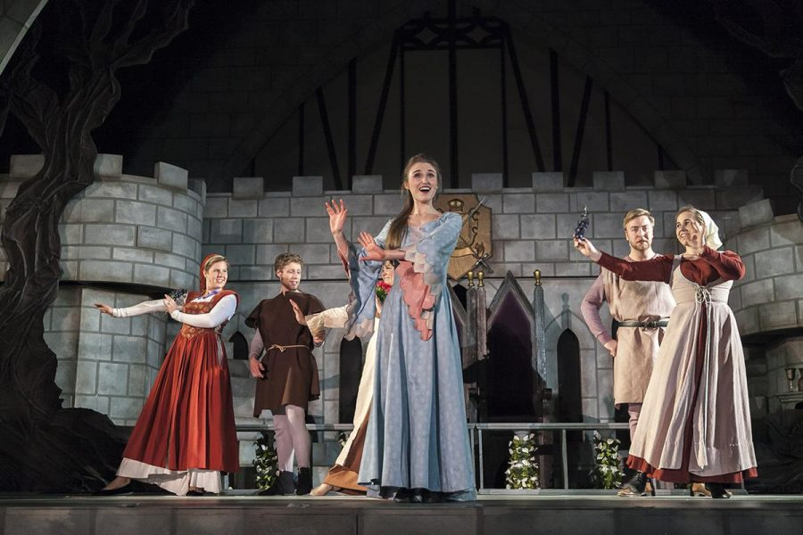 Freshman music and worship major Kaley Casenhiser portrays Queen Guinevere in the musical