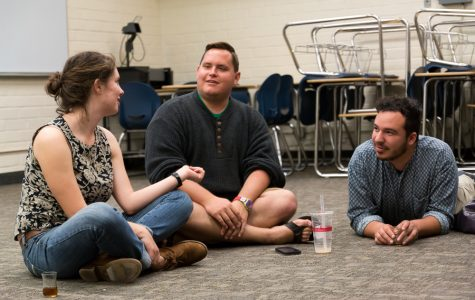 Students L.R., Douglas Keller, and Hugo Palomares at the the Muslim ministry meeting last Monday evening. The students of Biola's Muslim Ministry work to extend Christian outreach into the Muslim community by partnering with local groups. | Karin Jensen/THE CHIMES