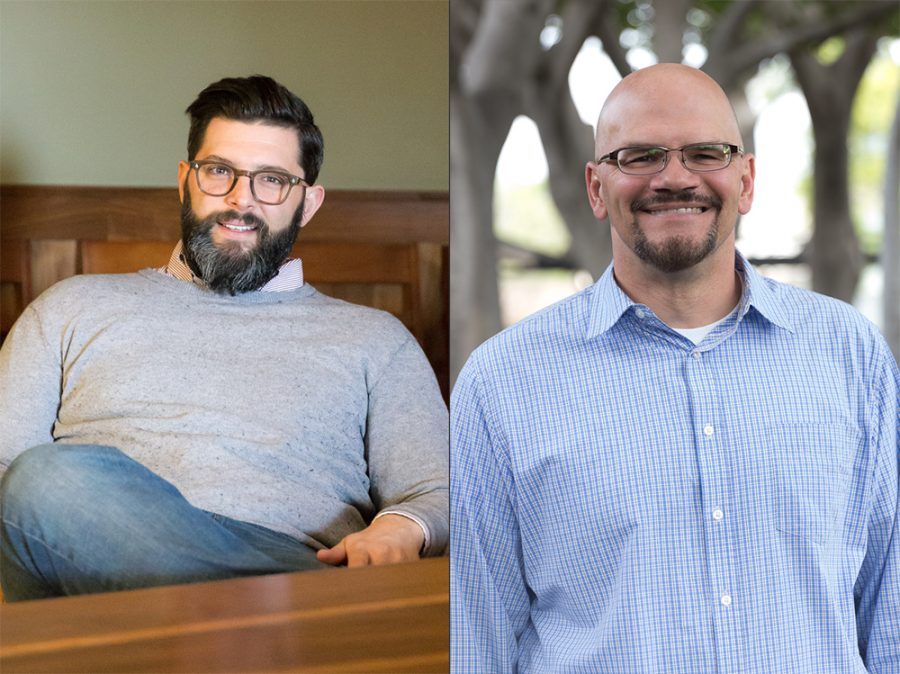 Evan Rosa, the CCT communications coordinator and Professor Tim Muehlhoff. The second annual Table Conference will feature diverse speakers to teach students how to communicate through civil discourse. | Marissa Osswald and Molli Kaptein/THE CHIMES