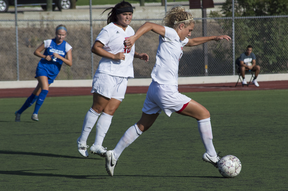Women's soccer secures win 4-0