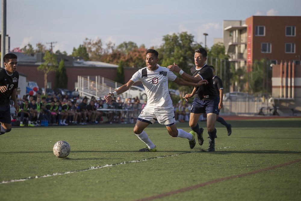 Men's soccer buffers lead in division race