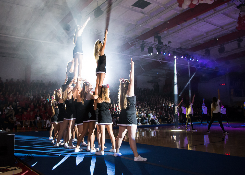 Cheer team debut peps Midnight Madness