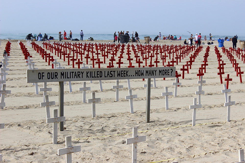 Veterans plant peace in a sea of crosses