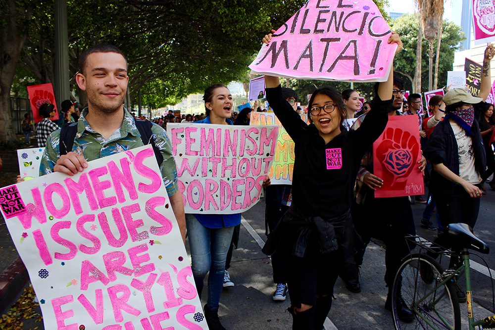 Los Angeles marches for gender equality