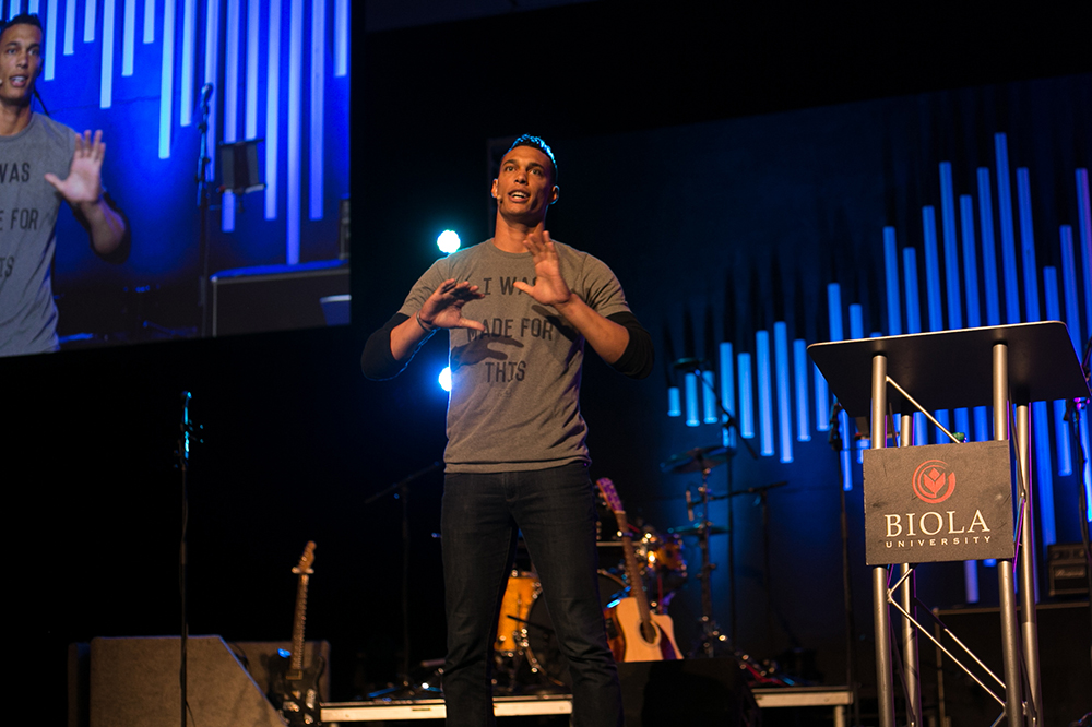 David Nelson speaks during session 5 by reminding Christians to humbly offer ourselves in order to be used in the way we are designed. | Anna Warner/THE CHIMES