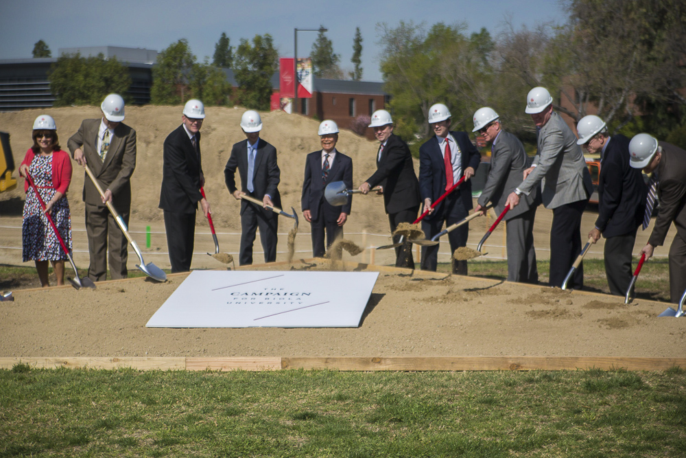 Ground breaks for new building