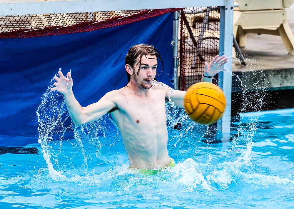 Freshman's goal for water polo
