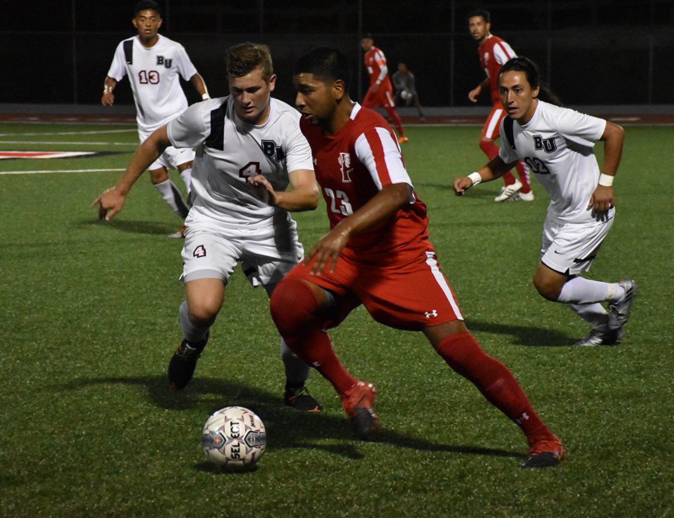 Men's soccer excels in high competition