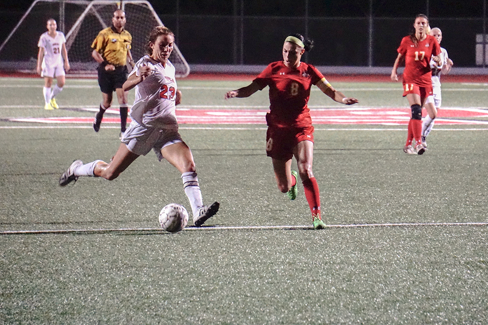 Women's soccer remains perfect through seven