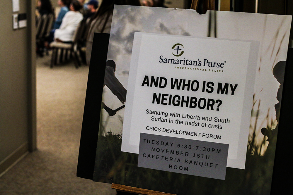 Samaritan's Purse holds discussion