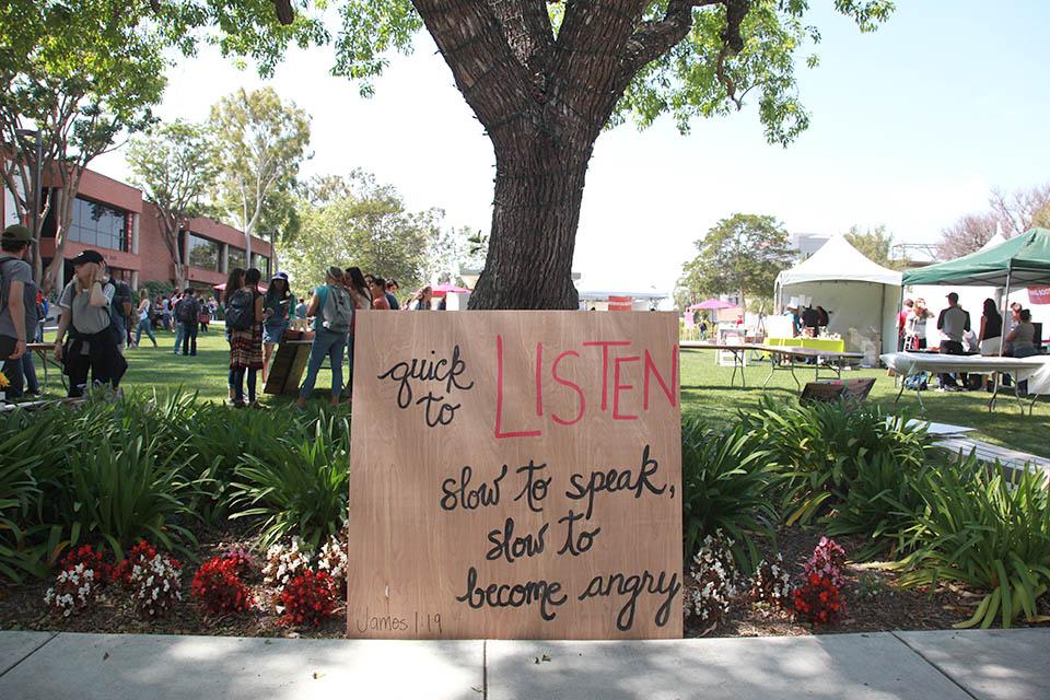 Students celebrate listening