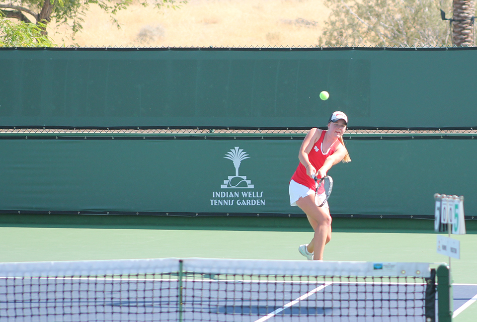 Conference tennis tournament shows signs of improvement