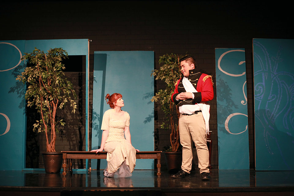 Thespians bring Torrey reading to life on stage.