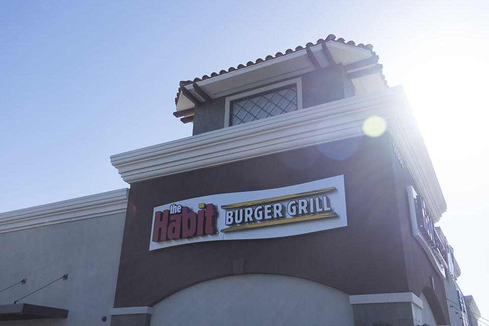 The Habit chars burgers blocks from Biola