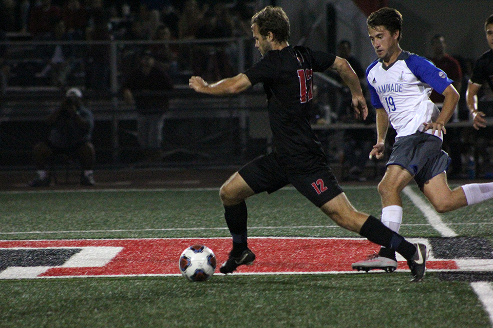 Men's soccer rebounds with win