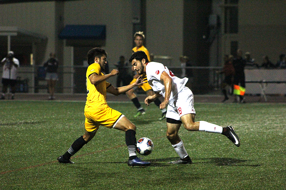 Men's soccer scores huge home win