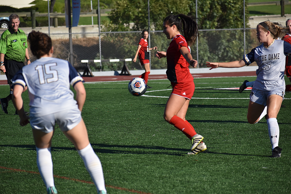 Women's soccer dominates in easy victory