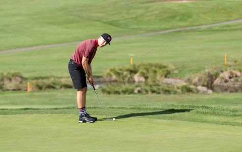 Bishop leads way for men's golf