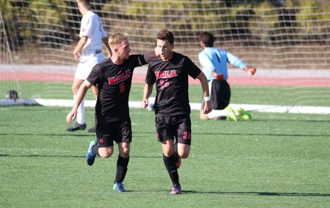 Men's soccer wins season's final game